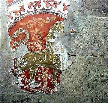 5 Esztergom oroszlán-freskó 1185 körül