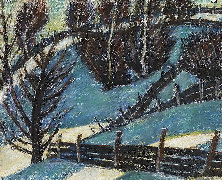 Nagy István Téli táj (Palánkok), 1927 körül