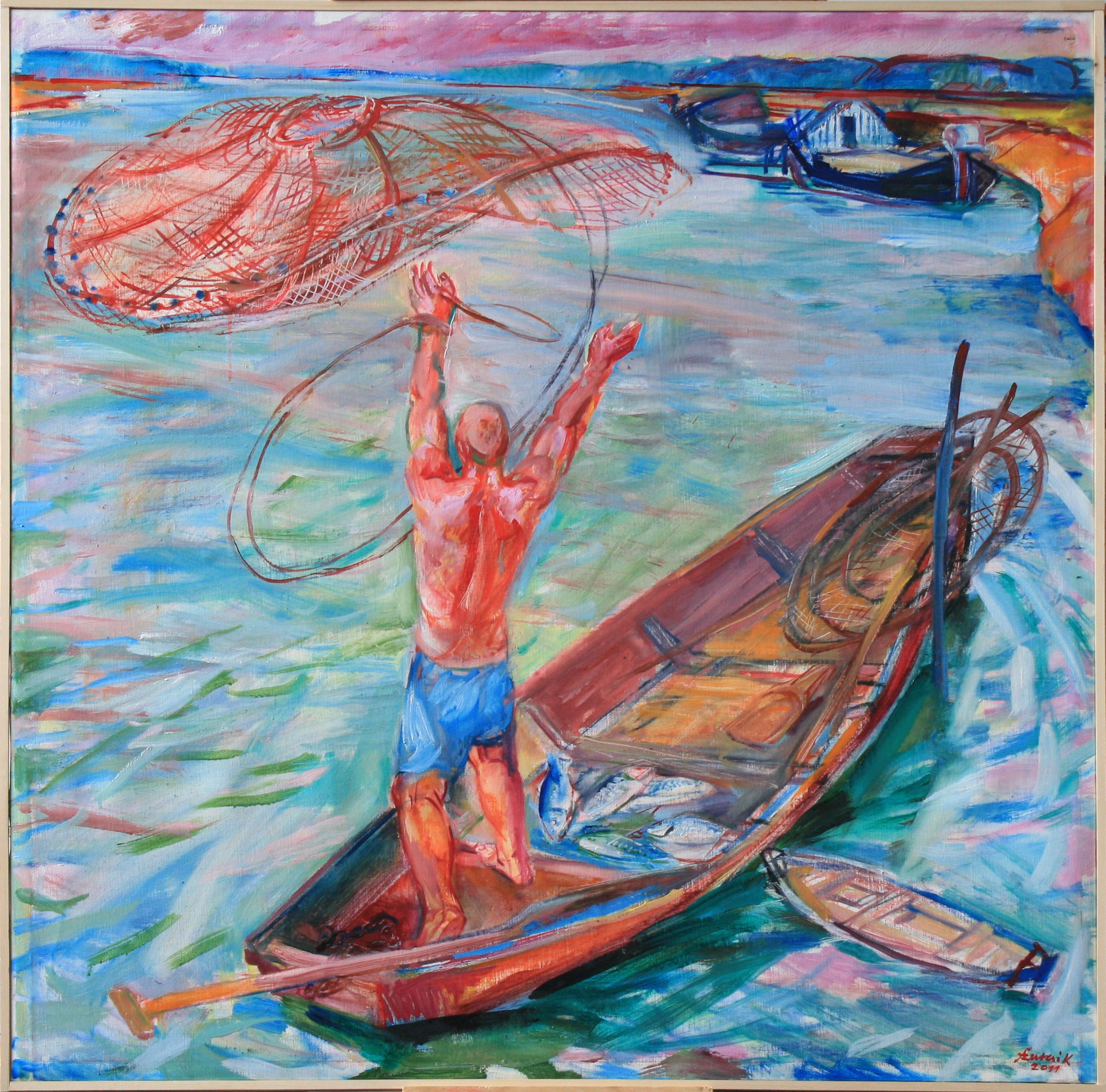 2011hálótvető halász