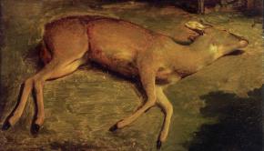Biche_morte_by_Courbet