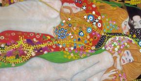 Water-Serpents-II-by-Gustav-Klimt-Painting-hand-painted